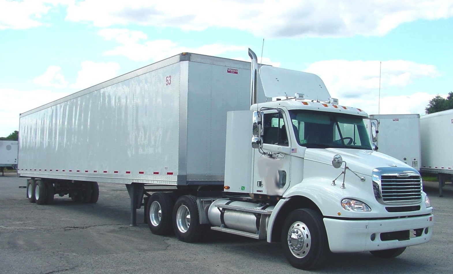 Image of Tractor trailer truck