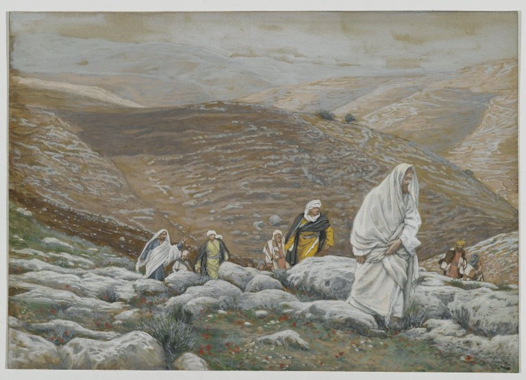 Brooklyn_Museum_-_With_Passover_Approaching,_Jesus_Goes_Up_to_Jerusalem_-_James_Tissot_-_overall